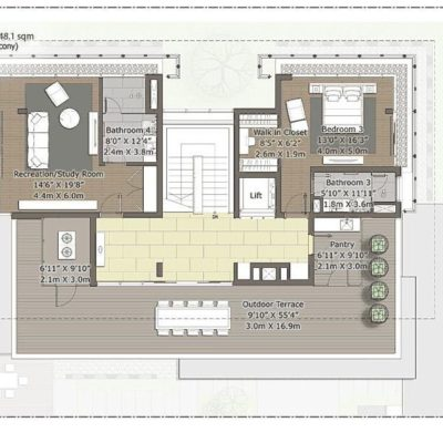 Cedar-Second  Floor Plan- Embassy Boulevard Price
