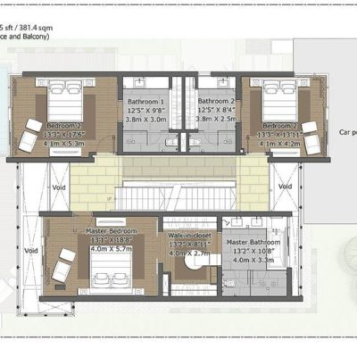 Pine First Floor Plan- Embassy Boulevard