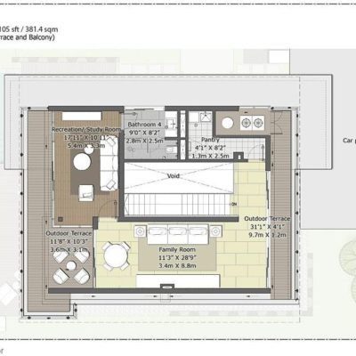 Pine-Second Floor Plan- Embassy Boulevard