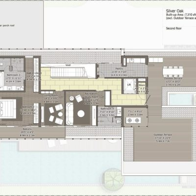 Silveroak-Second Floor Plan- Embassy Boulevard