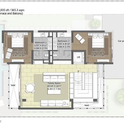 Willow-First Floor Plan- Embassy Boulevard