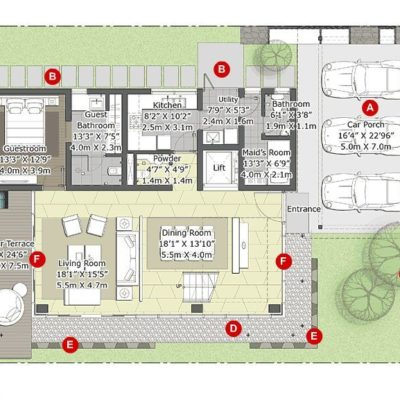Willow- Ground Floor Plan- Embassy Boulevard