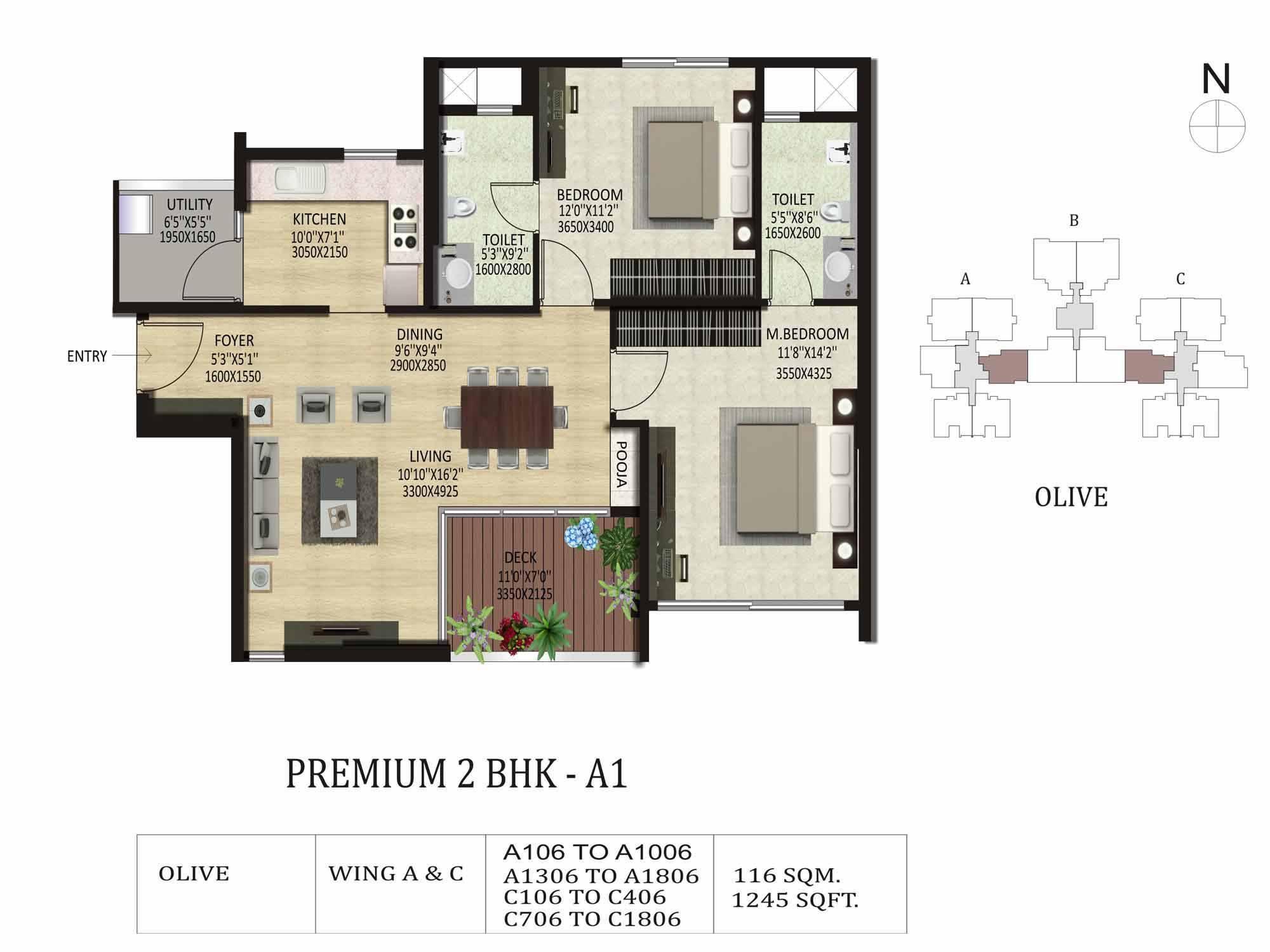 Shapoorji Pallonji Parkwest 2 3 Bedroom Apartments Bangalore
