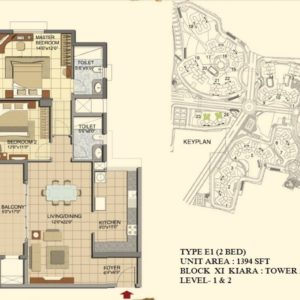 2 BHK- Type E1- T23-T24-