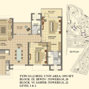 2 BHK- Type G- TOWER 19- 20 -21-22