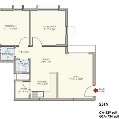 2 STN Floor Plan- Divyasree Republic of Whitefield