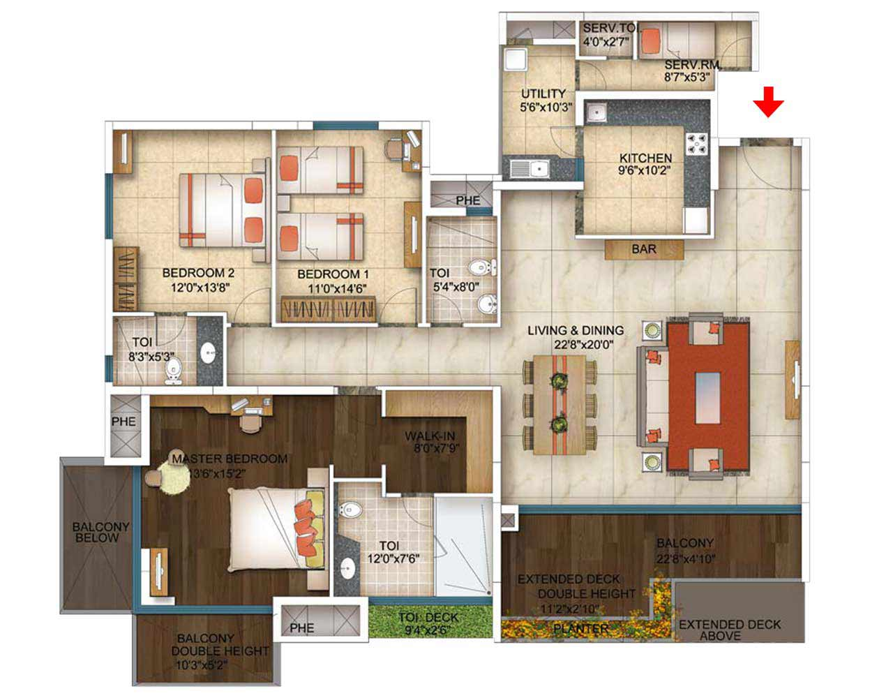 The address makers five summits 3 4 bhk whitefield bangalore for 5 bhk duplex floor plan