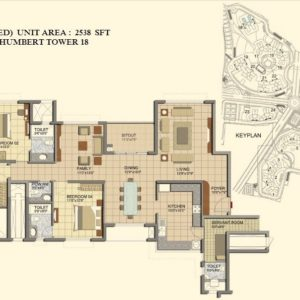 3 BHK- Type K1-Tower 18-
