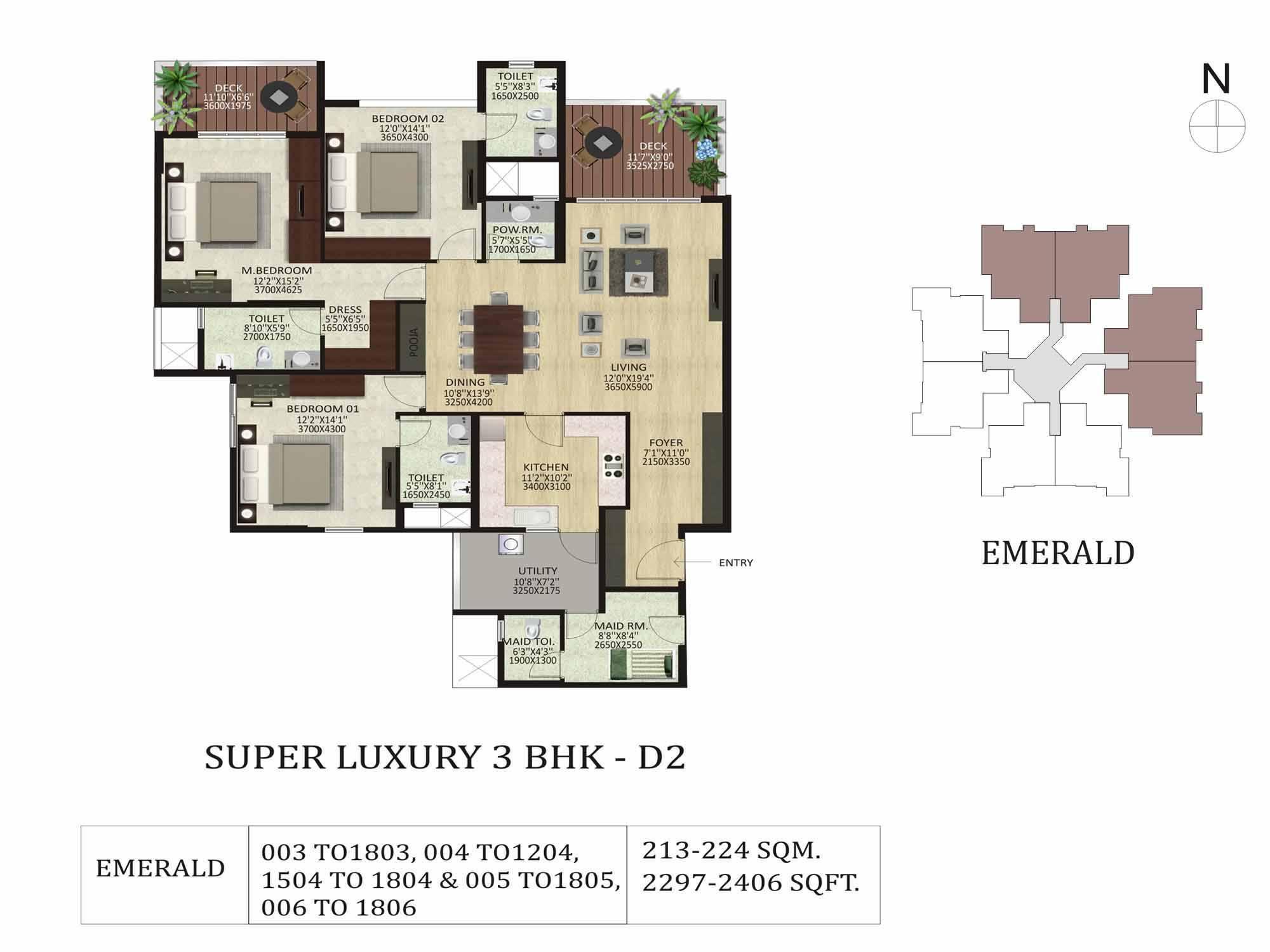 Shapoorji Pallonji ParkWest 2 & 3 Bedroom Apartments Bangalore