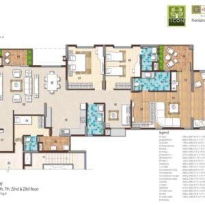 4BHK Type 2 Floor Plan