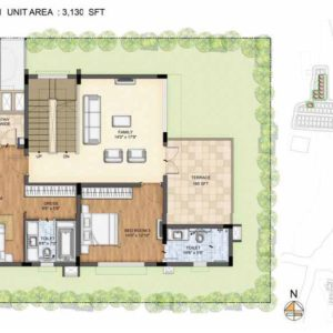 Arista-Type 1-villa First floor plan