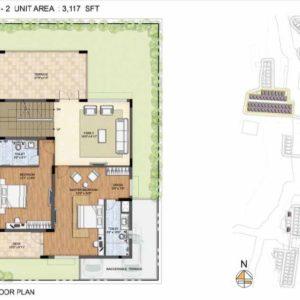 Arista-Type 2-villa First floor plan