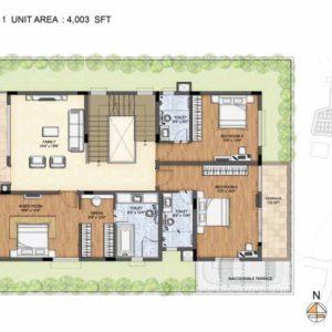 Baylene -Type 1-villa First floor plan