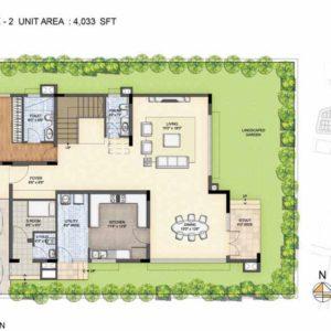 Baylene -Type 2-villa Ground floor plan-