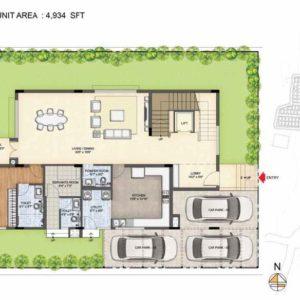 Clara-Type 1-villa Ground floor plan