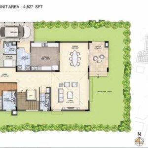Clara-Type 2-villa Ground floor plan-