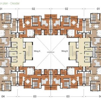 Deodar Typical Floor Plan