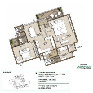 Duplex PentHouse-Type1-Ground-Floor-Plan