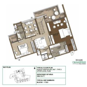 Duplex PentHouse-Type1-Upper-Level-Floor-Plan