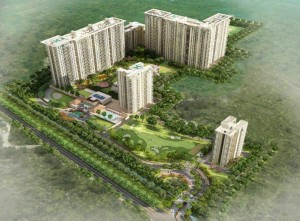 Aerial View of G Corp Icon- flat for sale in North Bangalore