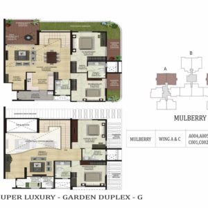 Garden Duplex-G-Mulberry-Shapoorji Parkwest Floor Plan