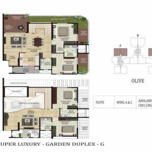 Garden Duplex-G-Olive-Shapoorji Parkwest Floor Plan
