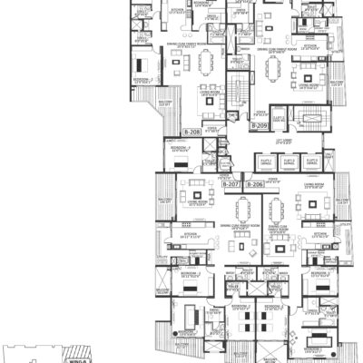 Godrej Platinum Wing B - second Floor Plan