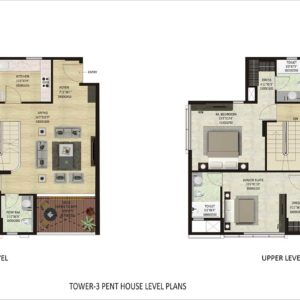 PentHouse-P1-Mulberry-Shapoorji Parkwest Floor Plan