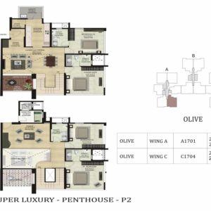 PentHouse-P2-Olive-Shapoorji Parkwest Floor Plan