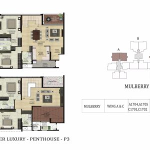 PentHouse-P3-Mulberry-Shapoorji Parkwest Floor Plan