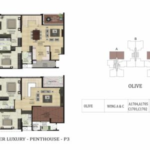PentHouse-P3-Olive-Shapoorji Parkwest Floor Plan