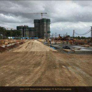 Prestige LakeSide habitat Villas construcion Progress
