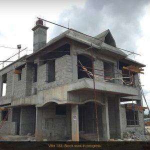 Prestige Lake Side habitat Villas construcion Progress Pictures