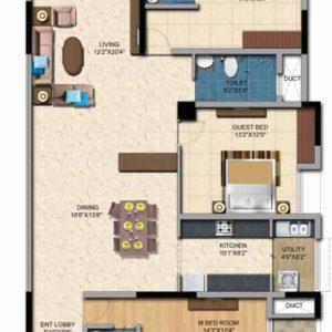 3BHK- 2192 Sft Salarpuria Casa Irene Floor Plan