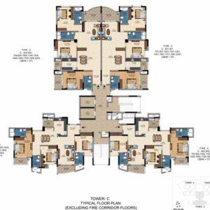 Salarpuria Casa Irene 3 bedroom plan
