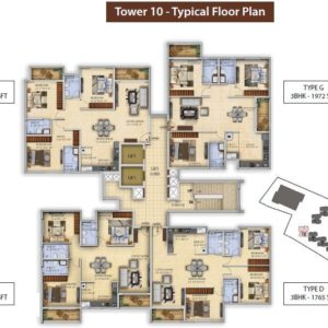 Tower 10 Salarpuria Divinity Floor Plan