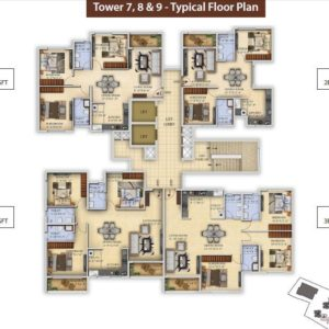 Tower 7-T8-T9 Salarpuria Divinity Floor Plan