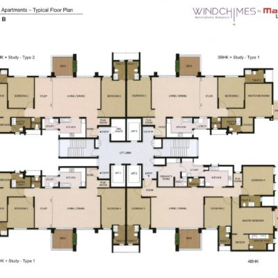 Tower-1-2 Wing B Mahindra Windchimes Floor Plan