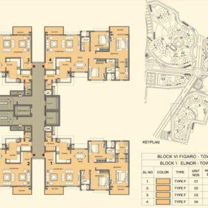 Tower 12-14 - Prestige Lakeside Habitat Typical Floor Plan
