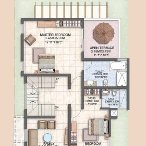 Villa Type A1 First Floor Plan