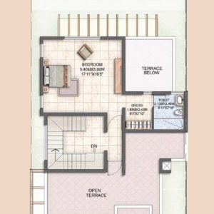 Villa Type A1 second  floor plan