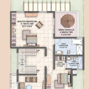 Villa Type A2 First Floor Plan