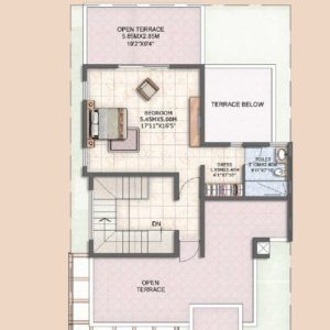 Villa Type A3 Second Floor Plan