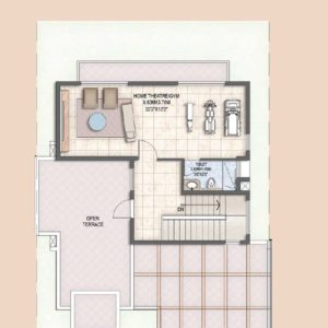 Villa Type B Second Floor Plan
