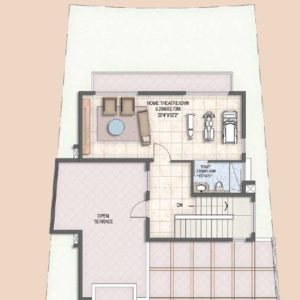 Villa Type B1 second Floor Plan