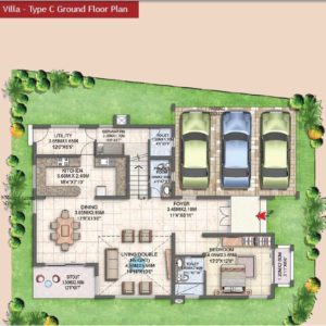 Villa Type C Ground Floor Plan