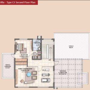 Villa Type C1 second Floor Plan