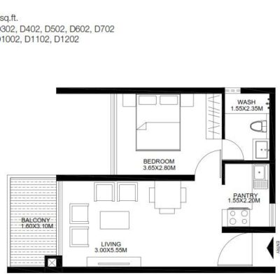 godrej-united-1-bedroom-plan