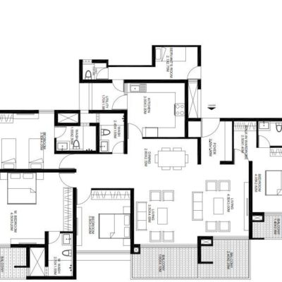 godrej-united-4-bedroom-floor-plan