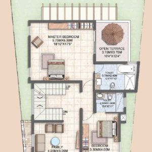 villa type A First Floor Plan